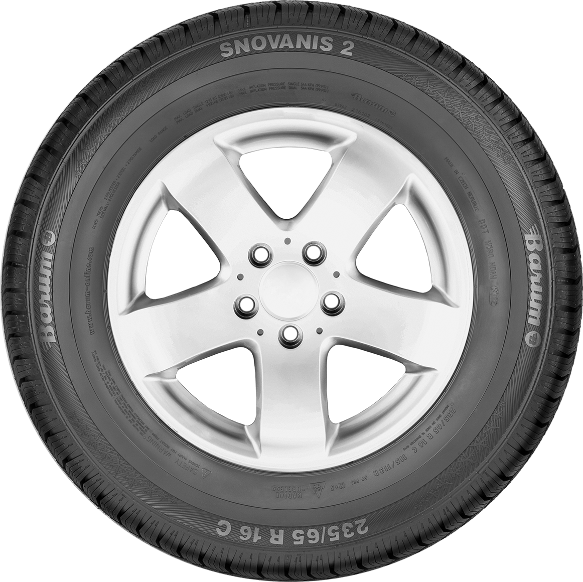 Bardzo dobryFantastyczny SnoVanis 2 - The Winter Tyre for Transporters & Vans for Snow QZ61