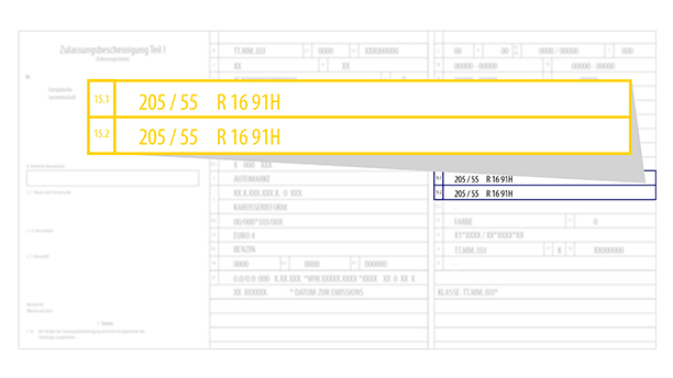 Rozmiar opony można znaleźć w dowodzie rejestracyjnym.